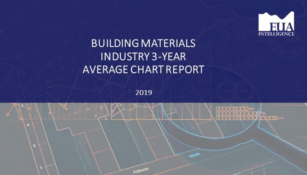 EUA Building Materials 3 Yr Industry Average Report 2019
